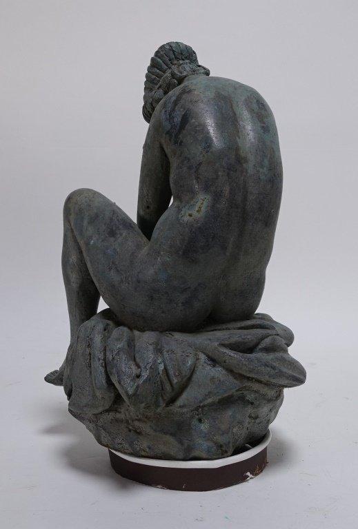 19C Bronze Neoclassical Nude Maiden Fountain Top - 3