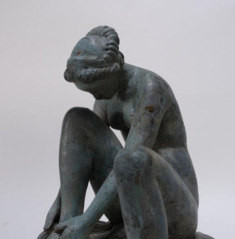 19C Bronze Neoclassical Nude Maiden Fountain Top - 4