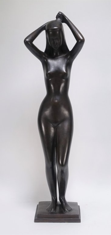 Gunnar Nilsson Sweden Bronze Figure of Nude