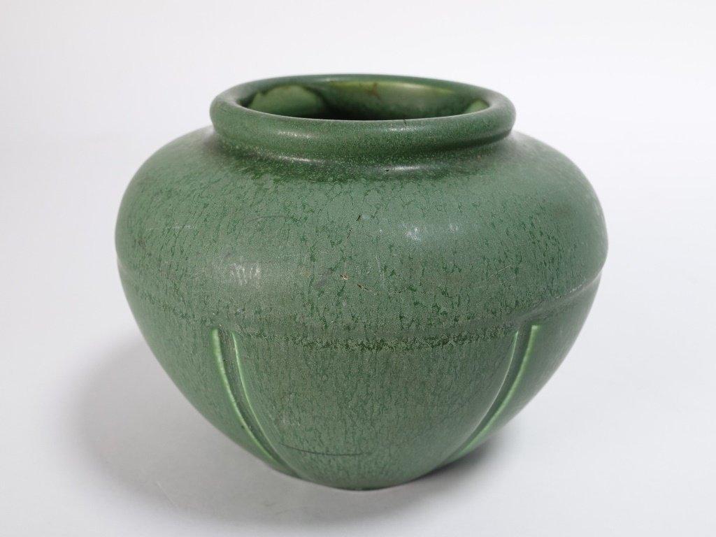 Hampshire Pottery Matte Green Arts & Crafts Vase