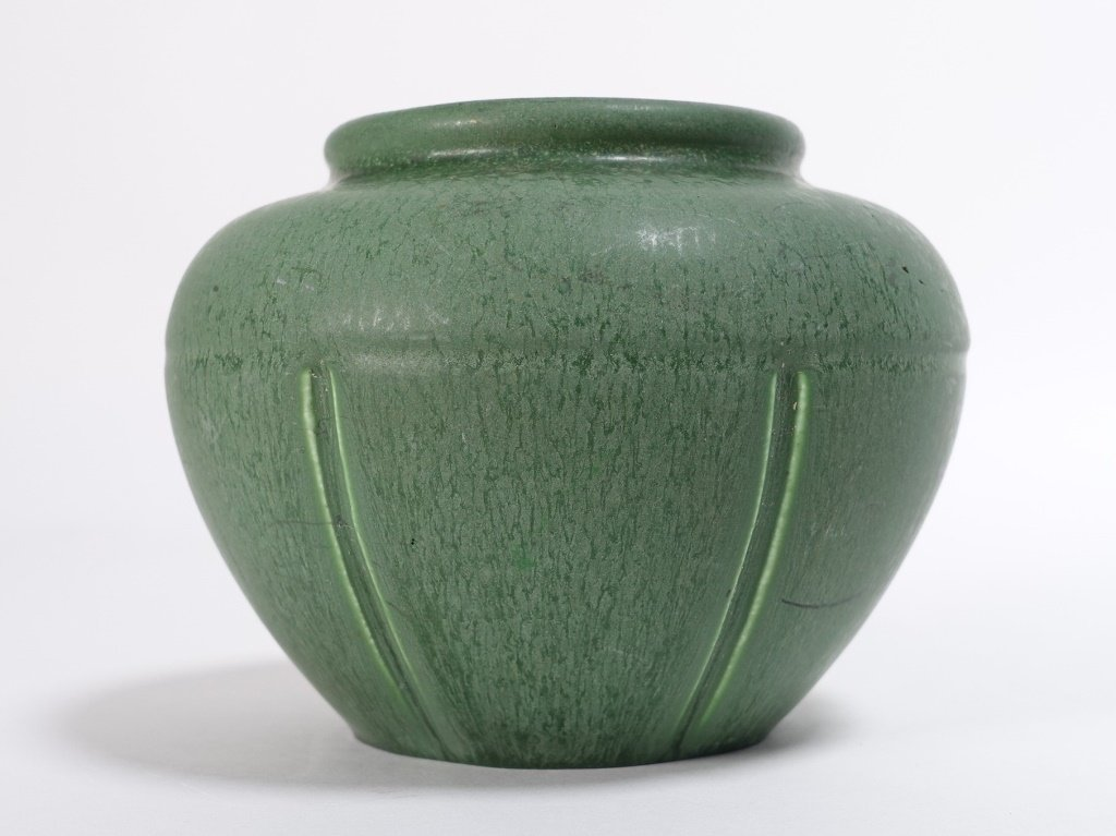 Hampshire Pottery Matte Green Arts & Crafts Vase - 2