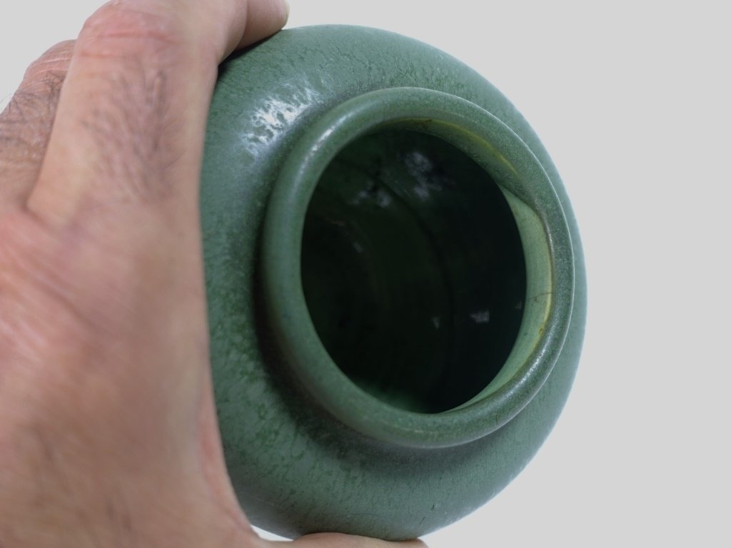 Hampshire Pottery Matte Green Arts & Crafts Vase - 3