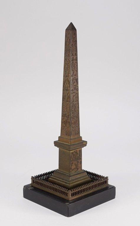 Continental Grand Tour Bronze Model of Obelisk.