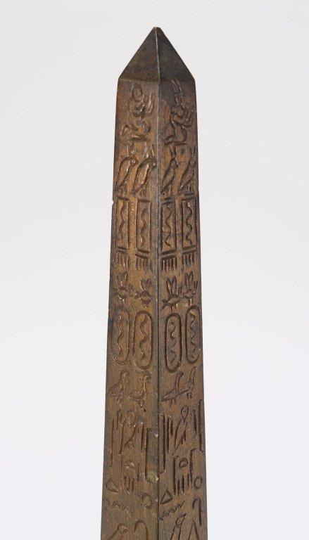 Continental Grand Tour Bronze Model of Obelisk. - 3