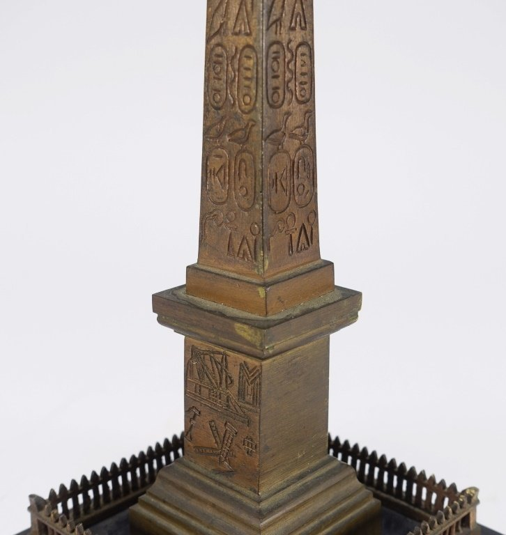 Continental Grand Tour Bronze Model of Obelisk. - 4