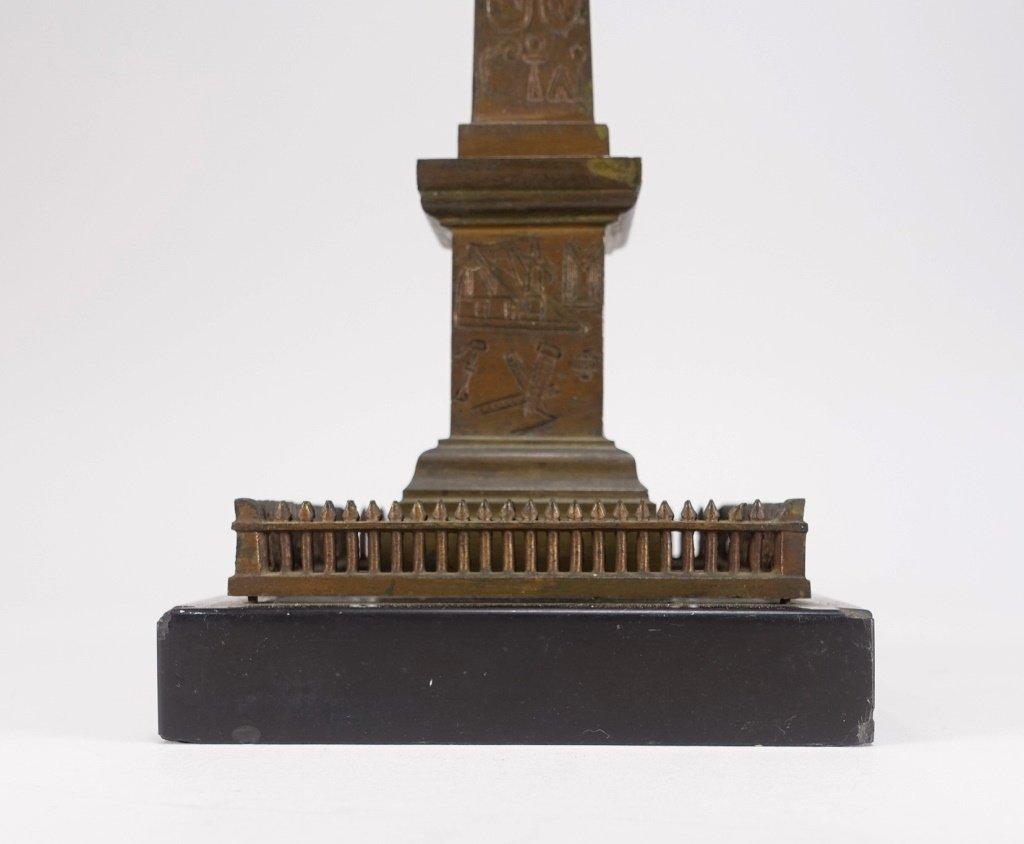 Continental Grand Tour Bronze Model of Obelisk. - 5