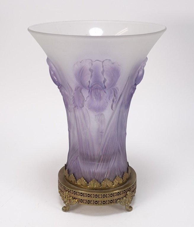 Josef Inwald Weil Barolac Satin Glass Iris Vase