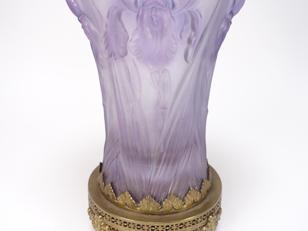 Josef Inwald Weil Barolac Satin Glass Iris Vase - 3