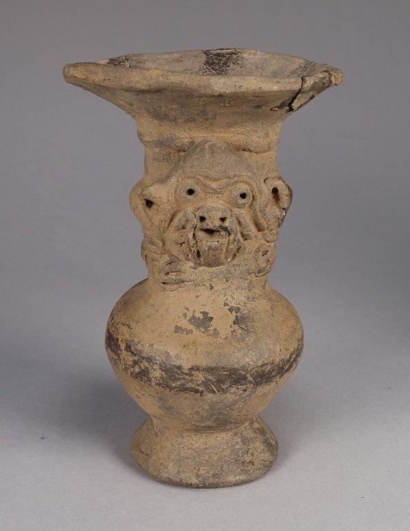 Pre Columbian Peruvian Chimu Monkey Vase - 2