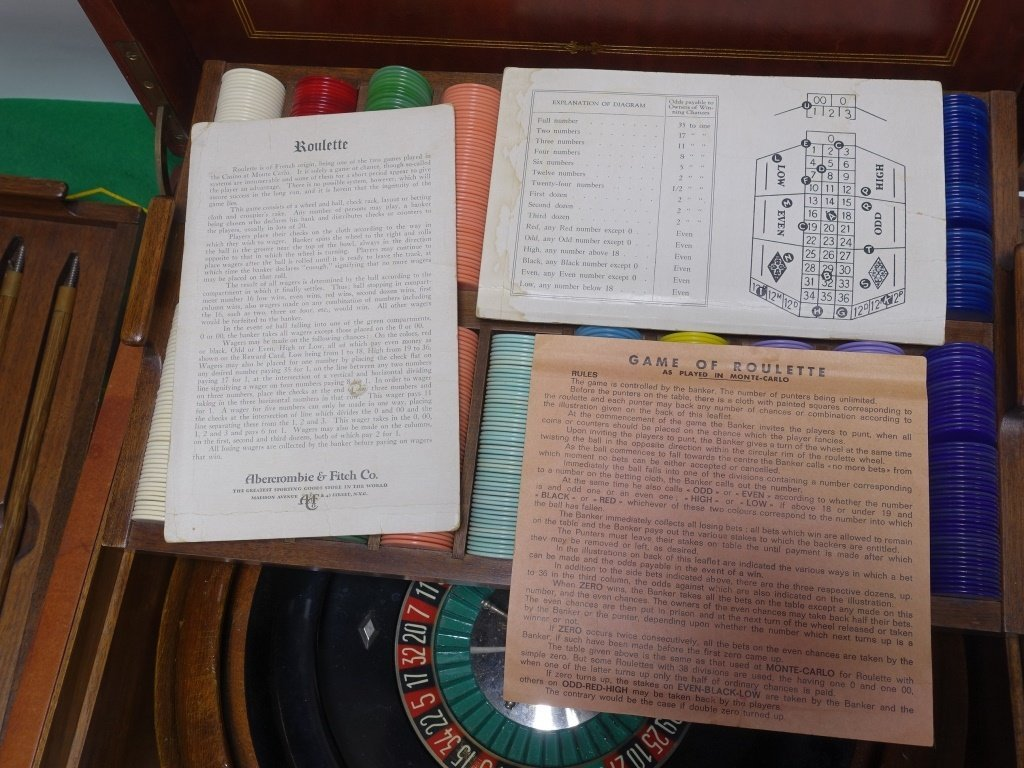 RARE Abercrombie & Fitch Co Roulette Gaming Set - 2