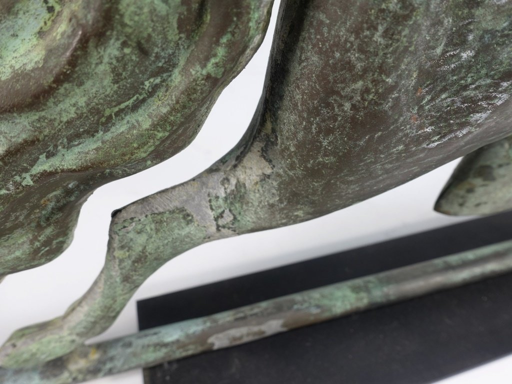 "Antique 26"" Copper Running Horse Weathervane - 10"