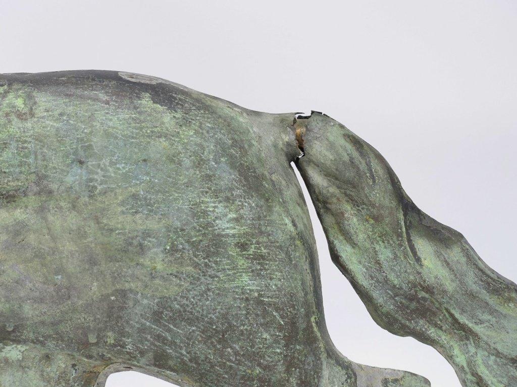 "Antique 26"" Copper Running Horse Weathervane - 5"