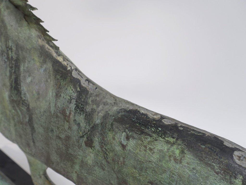 "Antique 26"" Copper Running Horse Weathervane - 7"