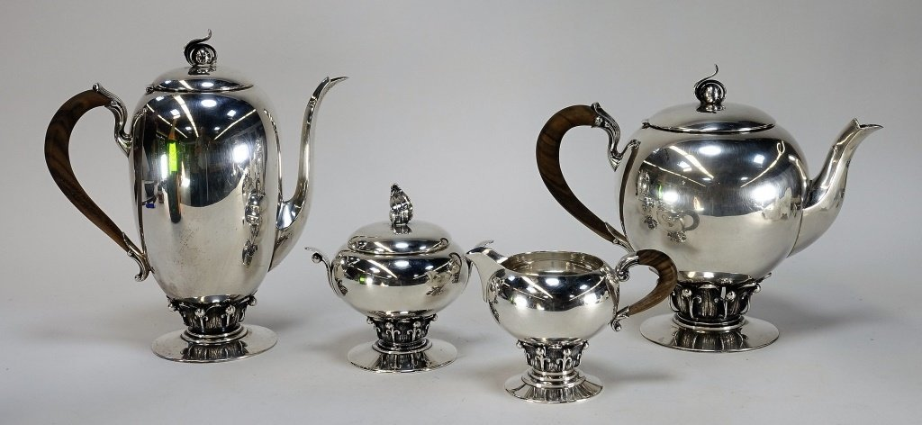 Redlich Co Arts & Craft Sterling Silver Tea Set