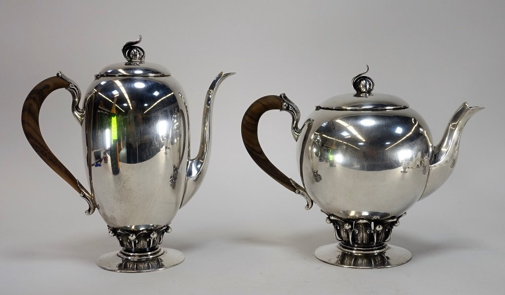 Redlich Co Arts & Craft Sterling Silver Tea Set - 2