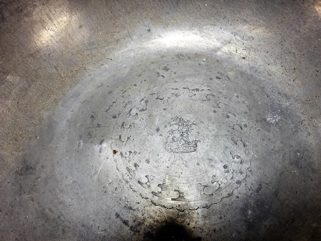 Lot of 6 English 18-19C Pewter Chargers Bowl - 6