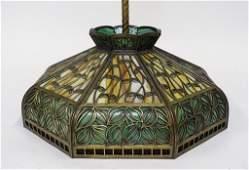 American Art Nouveau Slag Glass Ceiling Lamp