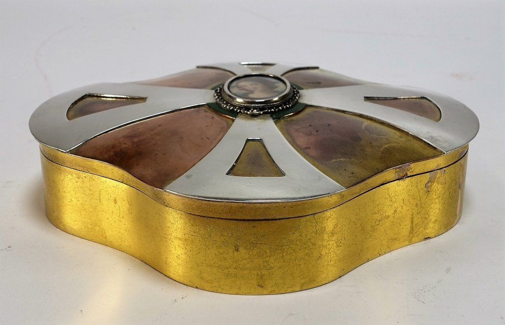 Marie Zimmermann Gold Plated Copper Silver Box - 5