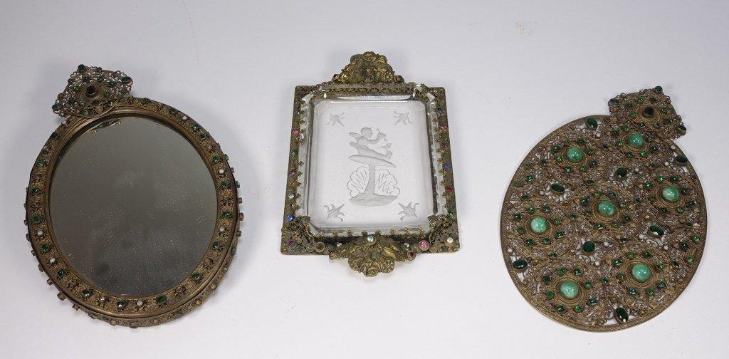 Czechoslovakian Brass Jeweled Estate Collection