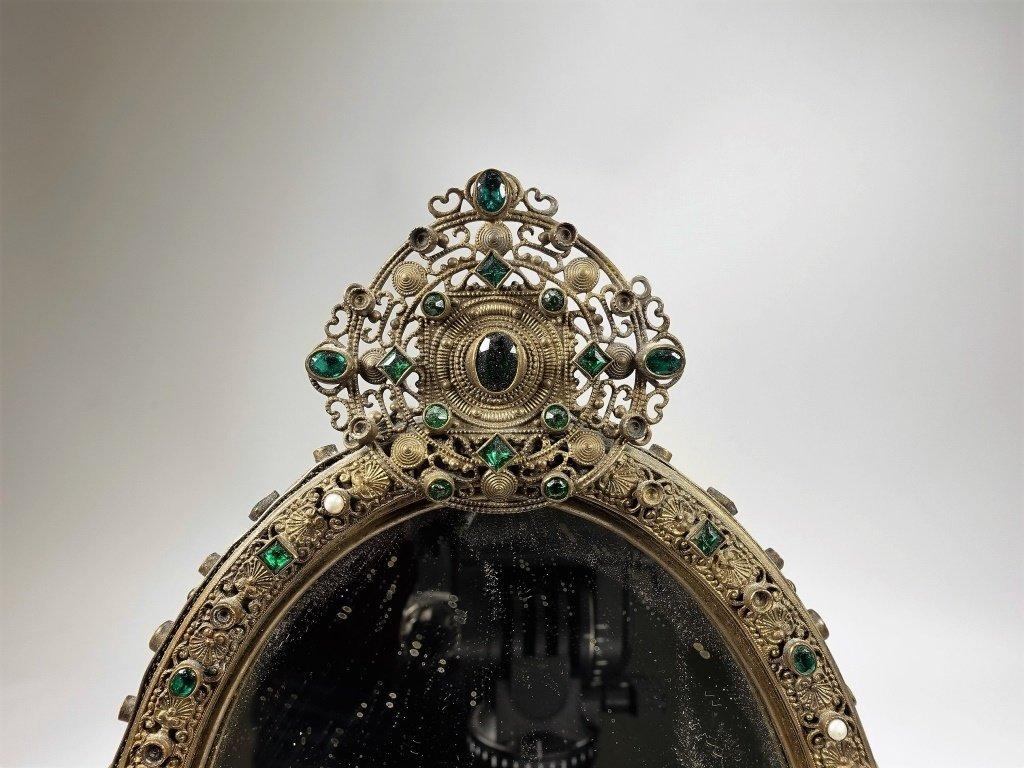 Czechoslovakian Brass Jeweled Estate Collection - 3