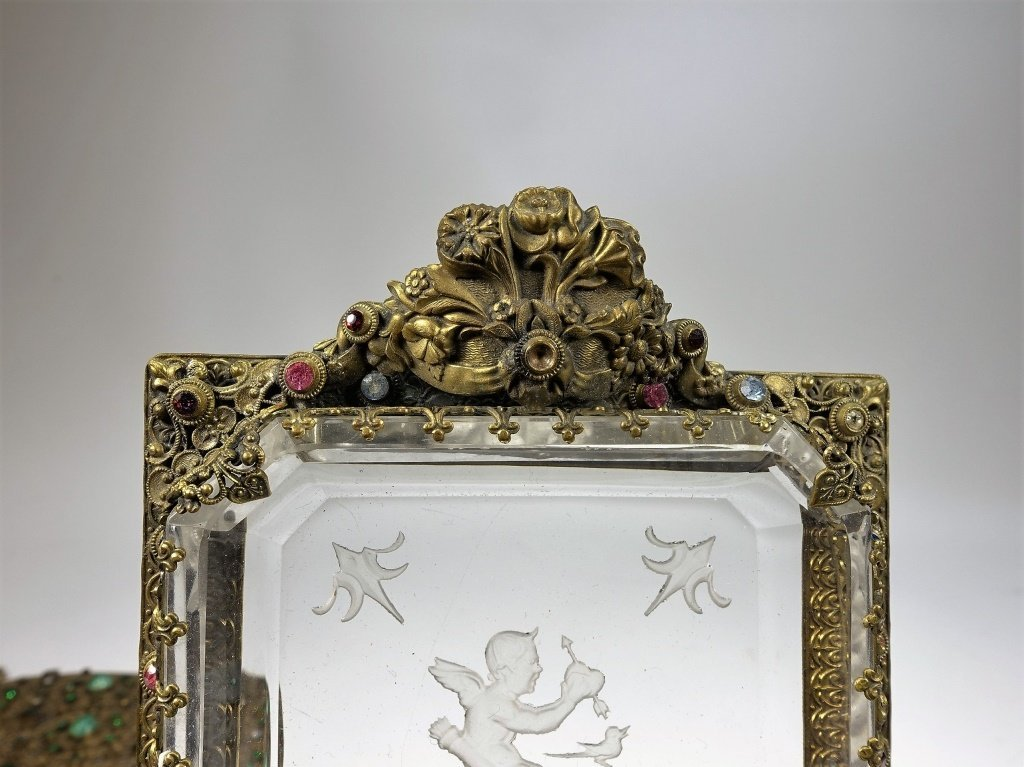 Czechoslovakian Brass Jeweled Estate Collection - 6