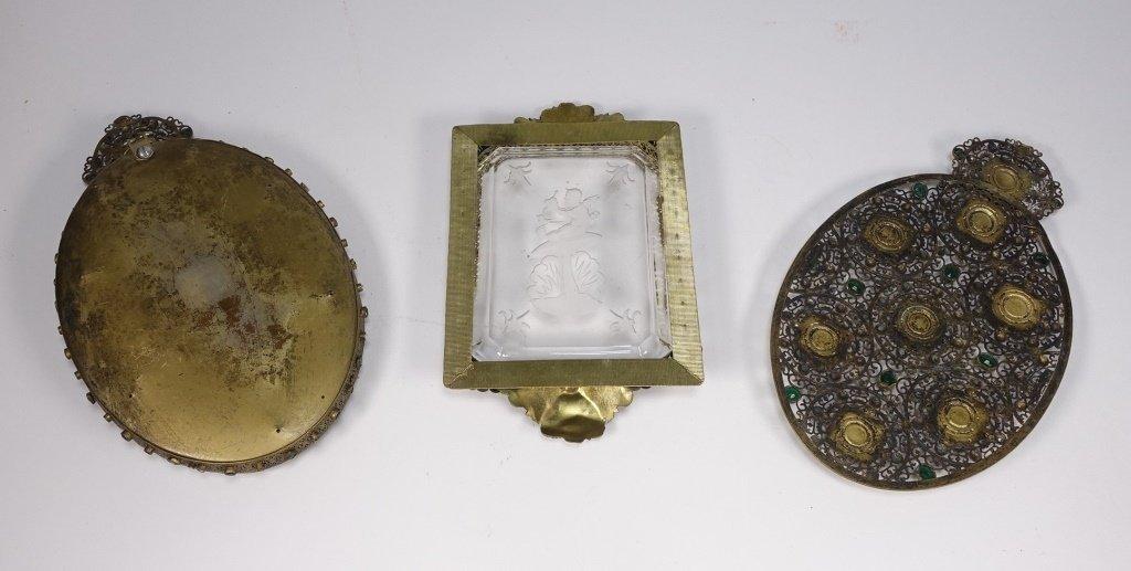 Czechoslovakian Brass Jeweled Estate Collection - 7