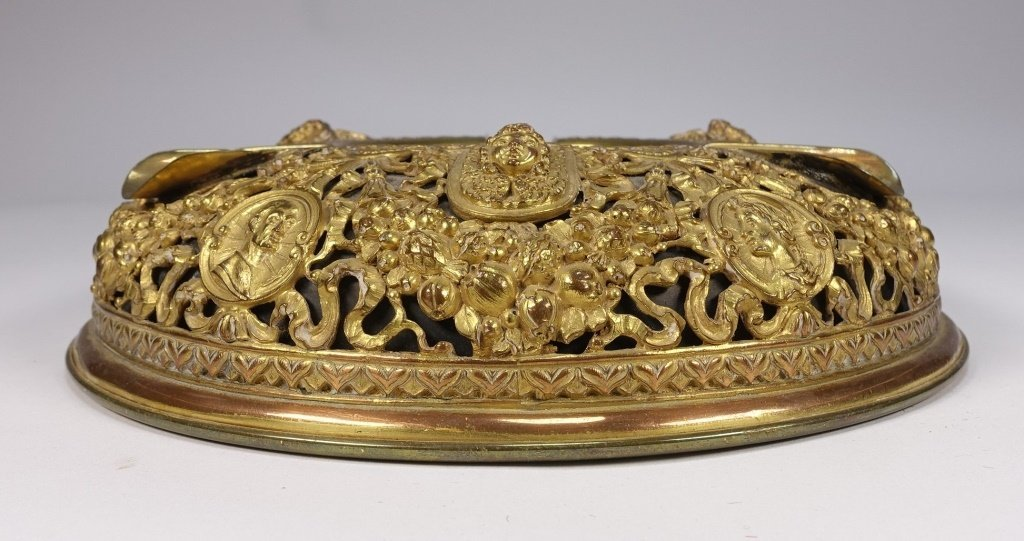 Neoclassical Gilt Brass Reticulated Cigar Ashtray - 4
