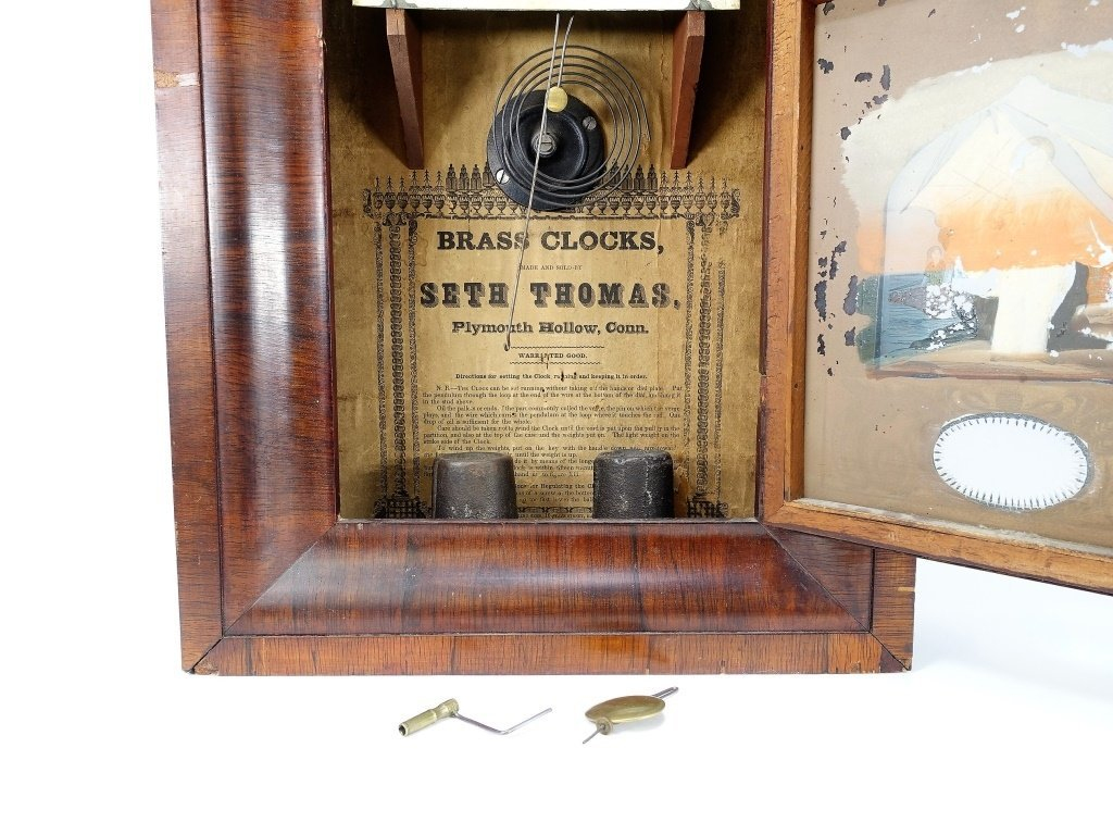 1872 Seth Thomas Painted Nautical Ogee Clock - 5