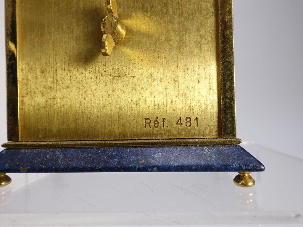 1970 Jaeger-LeCoultre Faux Lapis Lazuli Gilt Clock - 10