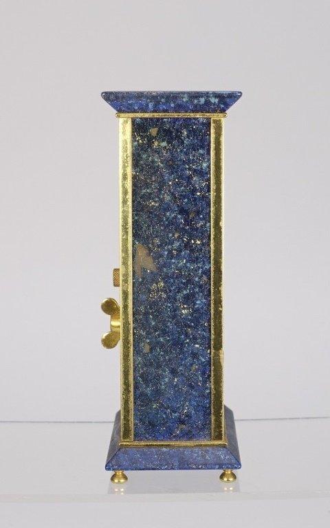 1970 Jaeger-LeCoultre Faux Lapis Lazuli Gilt Clock - 2