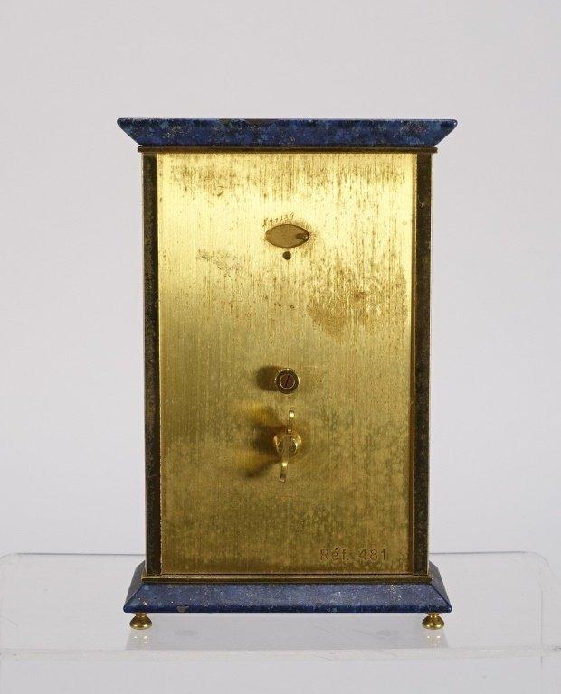 1970 Jaeger-LeCoultre Faux Lapis Lazuli Gilt Clock - 3