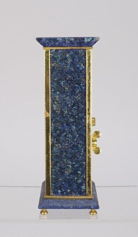 1970 Jaeger-LeCoultre Faux Lapis Lazuli Gilt Clock - 4