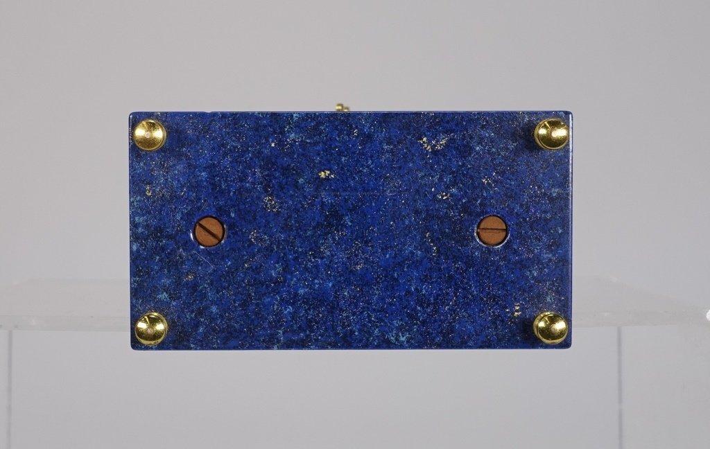 1970 Jaeger-LeCoultre Faux Lapis Lazuli Gilt Clock - 6