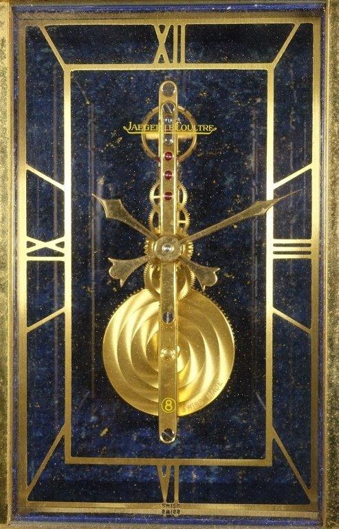 1970 Jaeger-LeCoultre Faux Lapis Lazuli Gilt Clock - 7