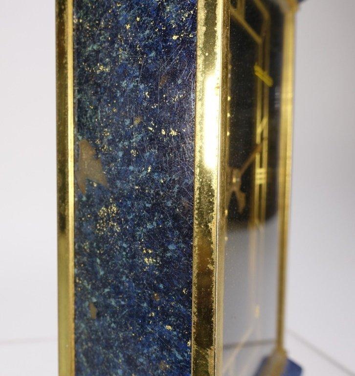 1970 Jaeger-LeCoultre Faux Lapis Lazuli Gilt Clock - 8
