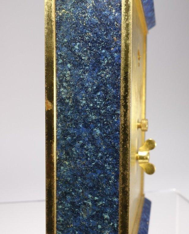 1970 Jaeger-LeCoultre Faux Lapis Lazuli Gilt Clock - 9
