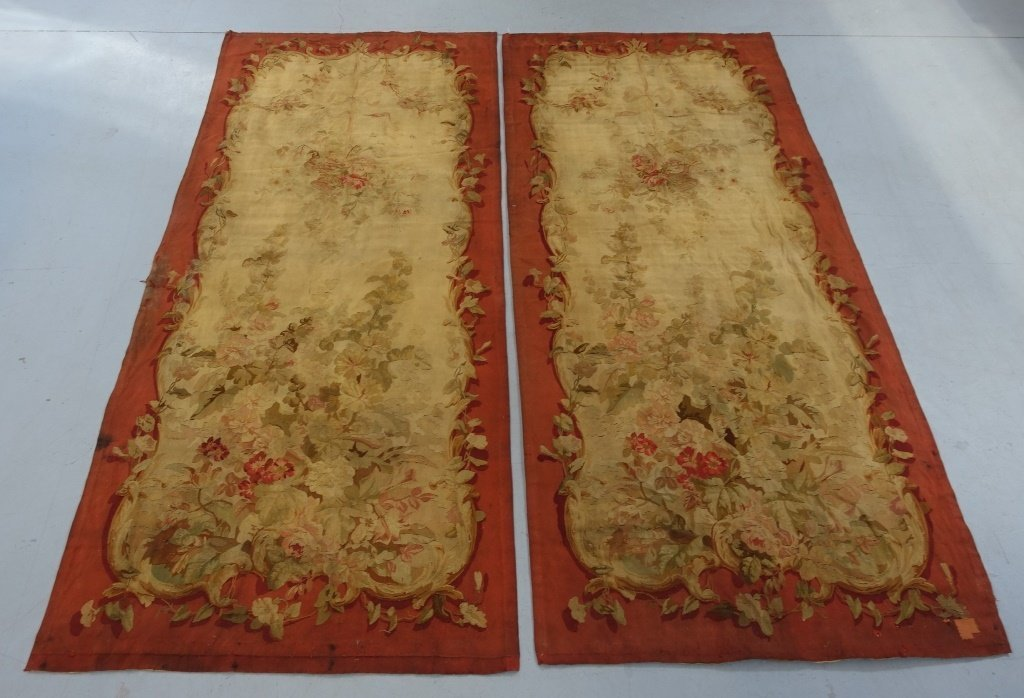 PR Large French Aubusson Textile Tapestries