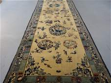 Large Antique Indian Chinese Design Rug