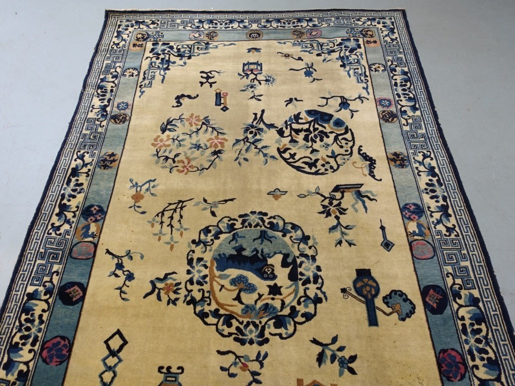 Large Antique Indian Chinese Design Rug - 2