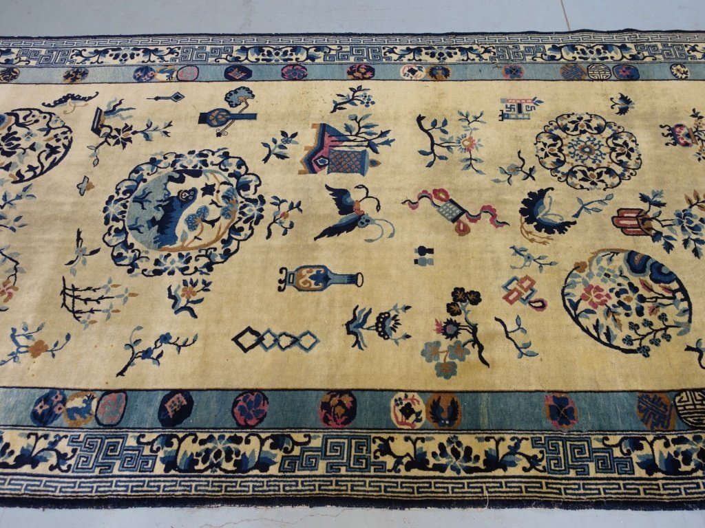 Large Antique Indian Chinese Design Rug - 4