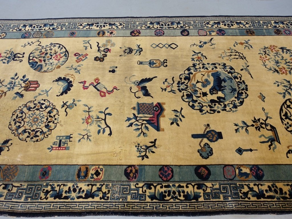 Large Antique Indian Chinese Design Rug - 6