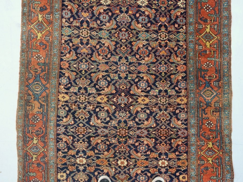 Antique Persian Bijar Carpet Rug - 2
