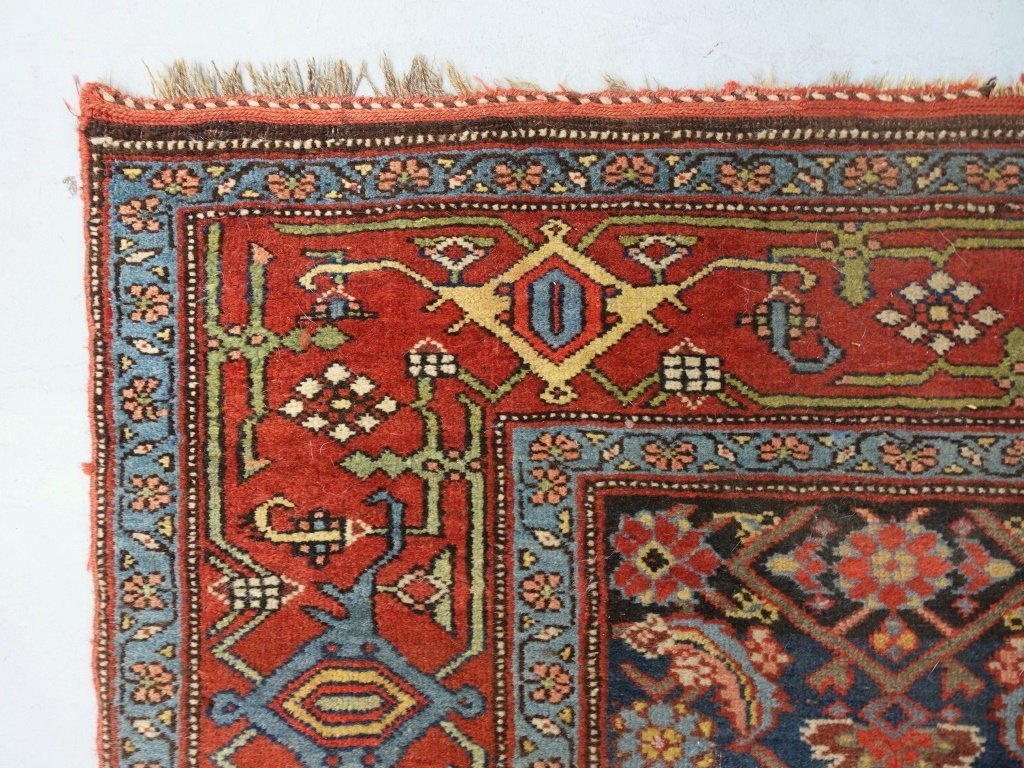 Antique Persian Bijar Carpet Rug - 3