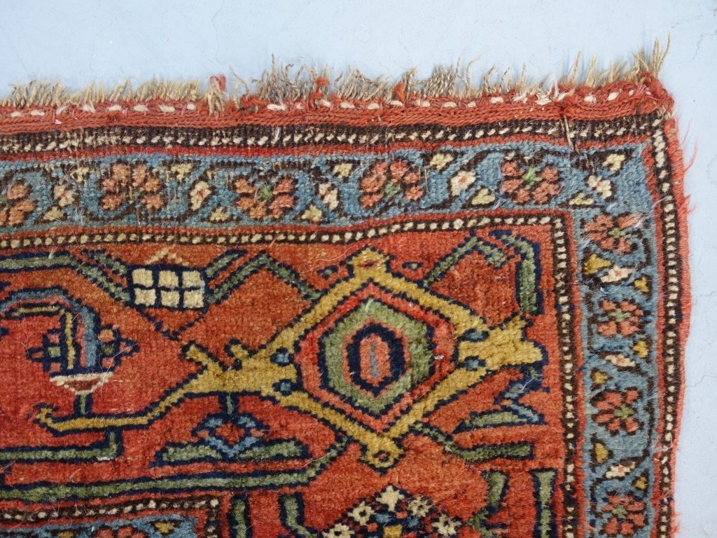 Antique Persian Bijar Carpet Rug - 6