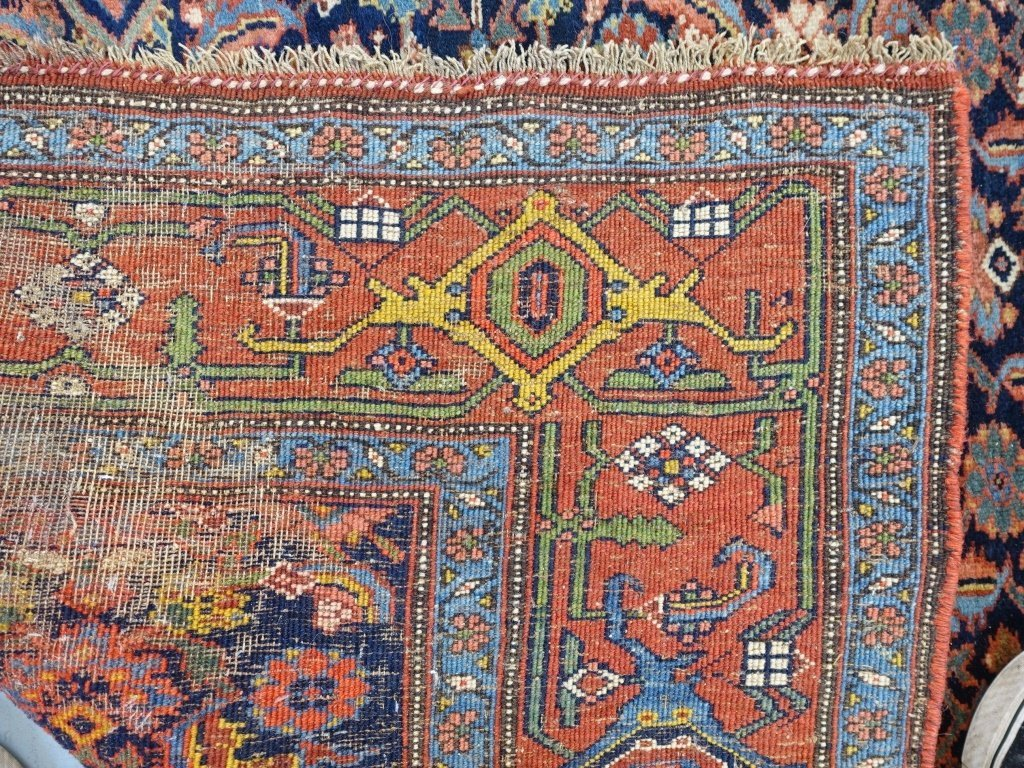 Antique Persian Bijar Carpet Rug - 7