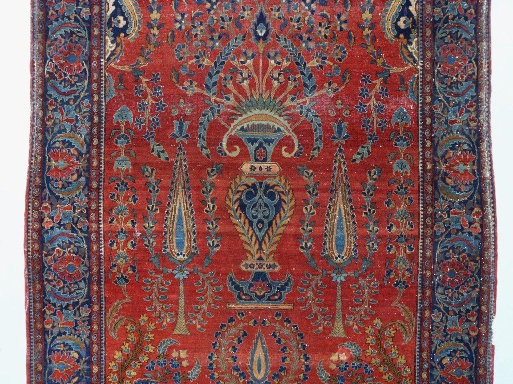 Antique Persian Manchester Keshan Carpet Rug - 2