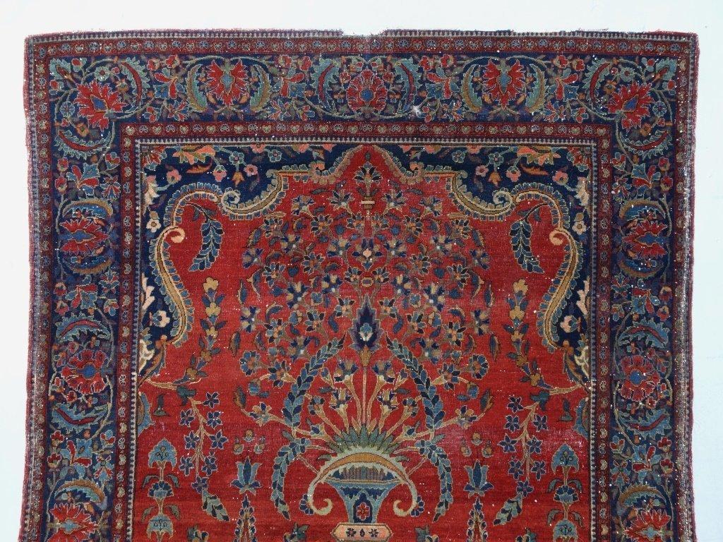 Antique Persian Manchester Keshan Carpet Rug - 3