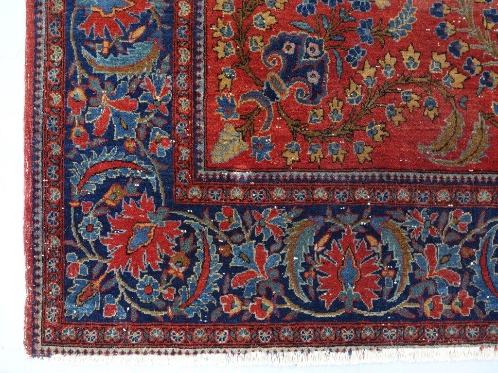 Antique Persian Manchester Keshan Carpet Rug - 5