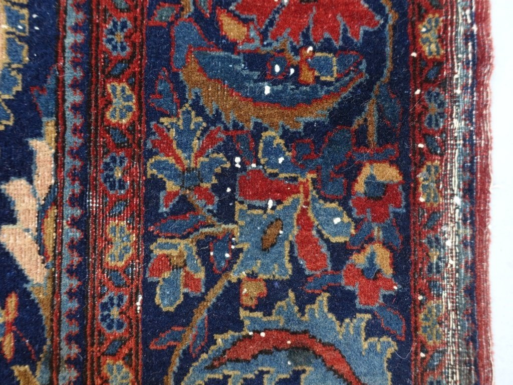 Antique Persian Manchester Keshan Carpet Rug - 7