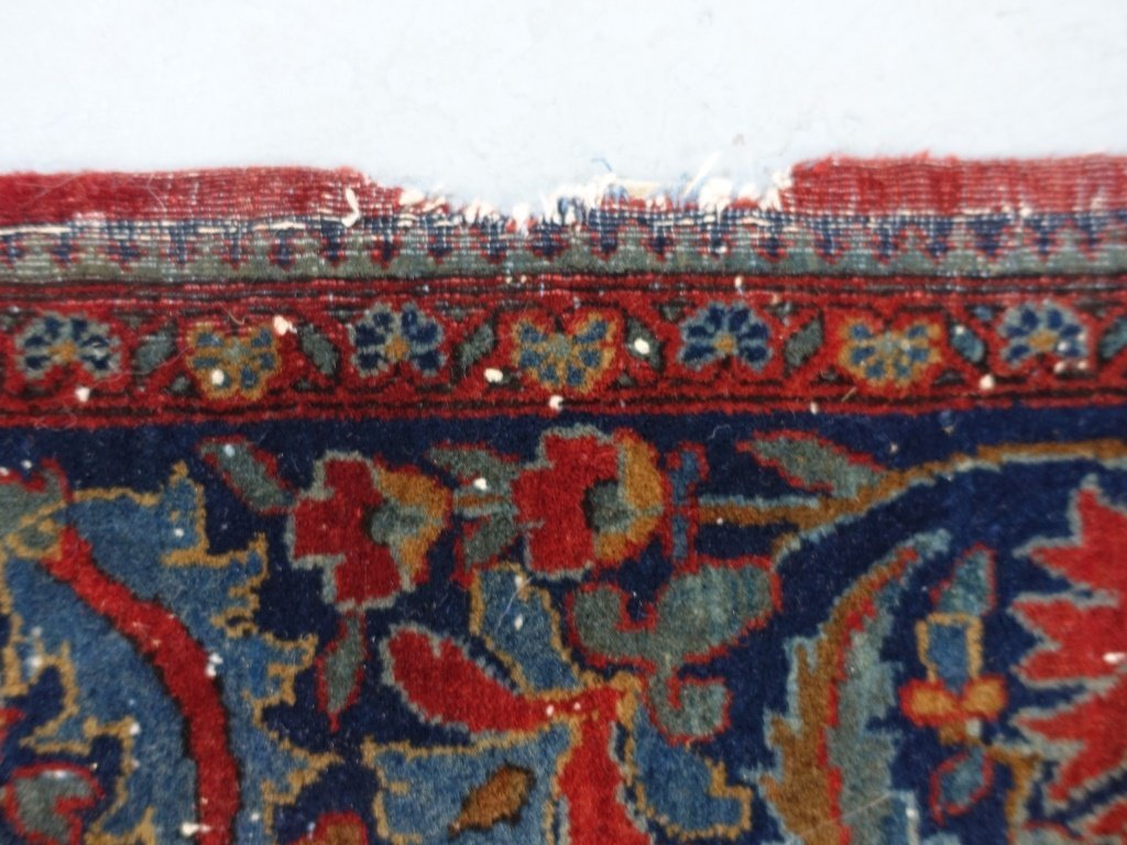 Antique Persian Manchester Keshan Carpet Rug - 8